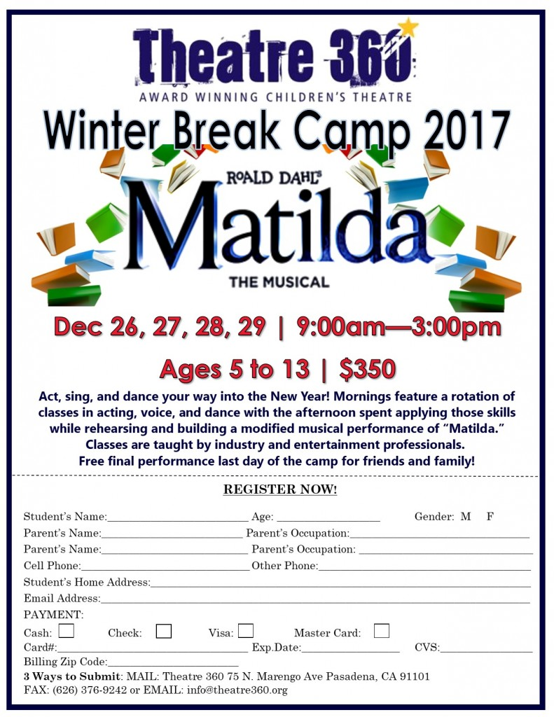 Winter Camp Registration